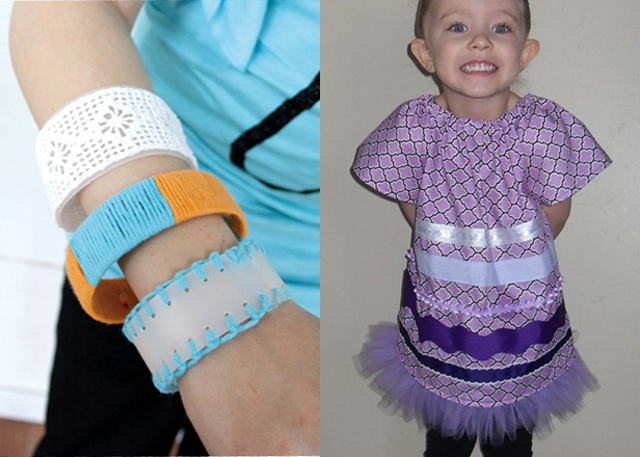 Plastic bottle bracelets,girls tunic