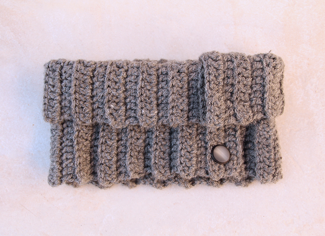 Crocheted button up cowl turtle neck