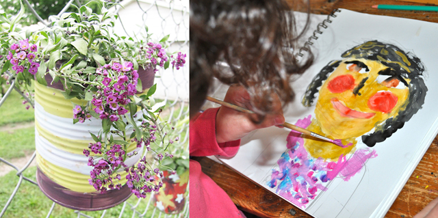Can planter, creative kids advice