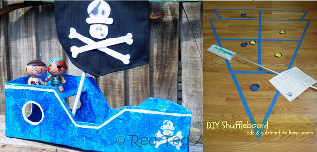 Diy cardboard pirates ship, DIY shuffleboard
