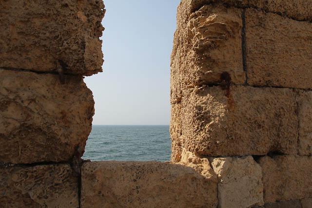 Akko old city wall