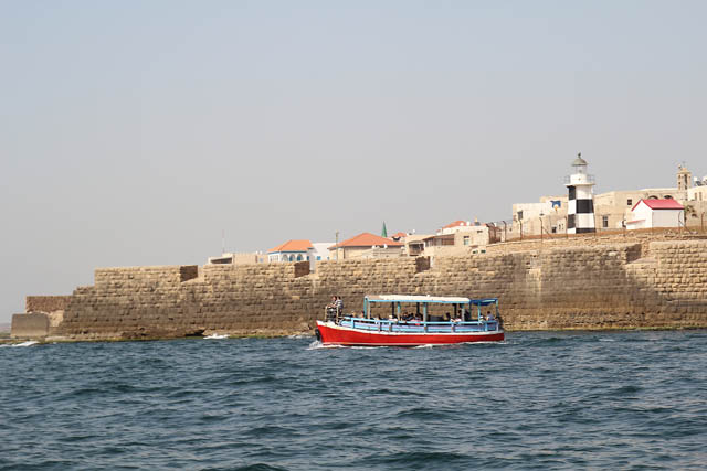 Akko, boat ride old city walls
