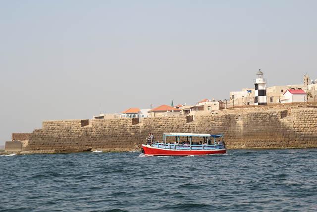 Akko, boat ride old city walls