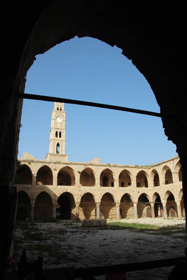 Akko, Khan with clock tower