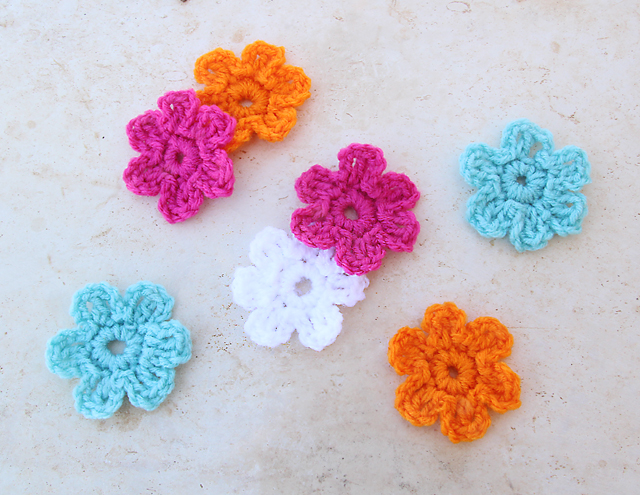 Crocheted Simple Flower