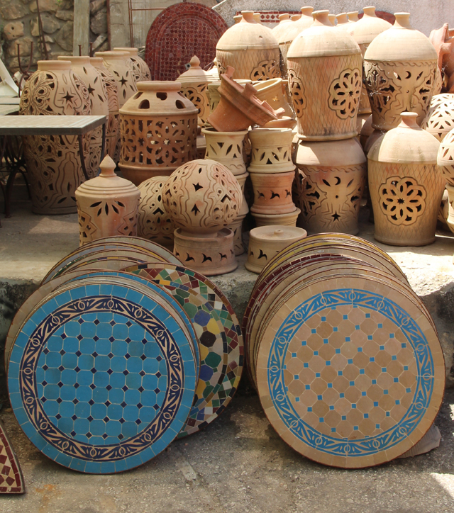 Moroccan Mosaic tables small round