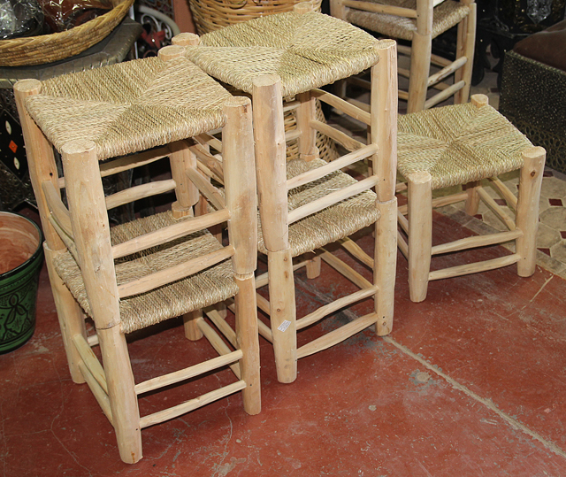 Moroccan Wooden Stools