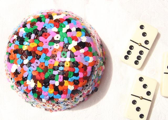 Hama Bead Perler Bead bowl underside
