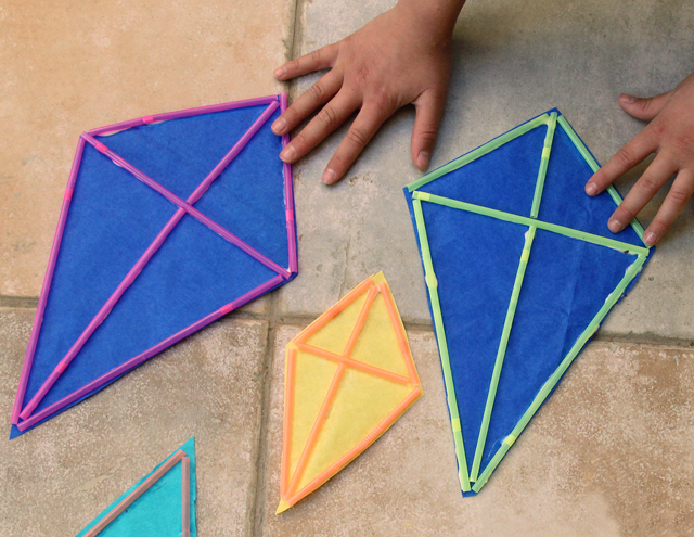 Make kite with straws images - How to make a kite ...