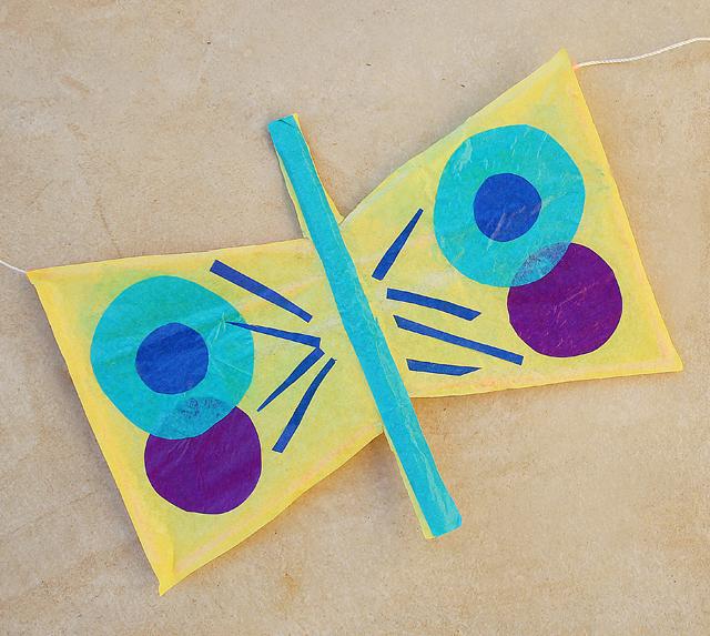 Kite kids craft butterfly kite