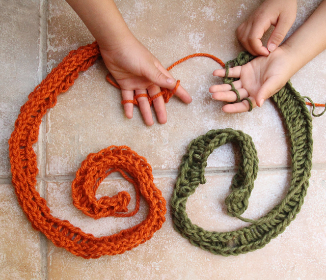 Finger Knitting For Boys