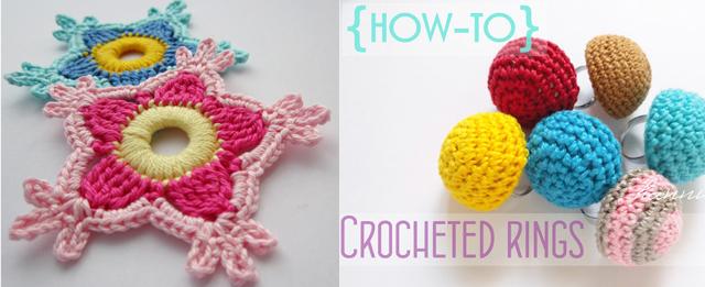 Crocheted rings, crocheted stars