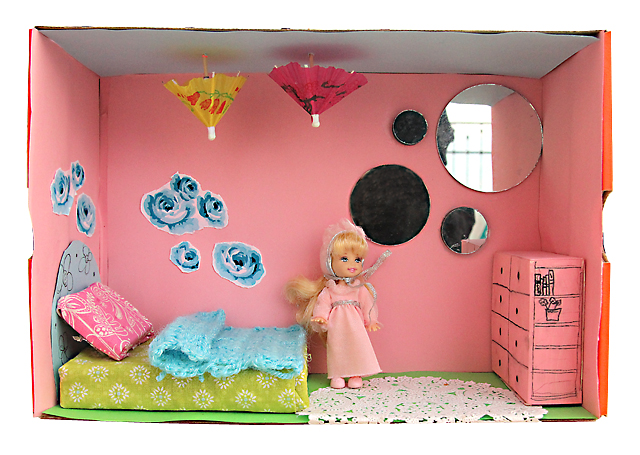 Shoebox Dollhouse Girls Room
