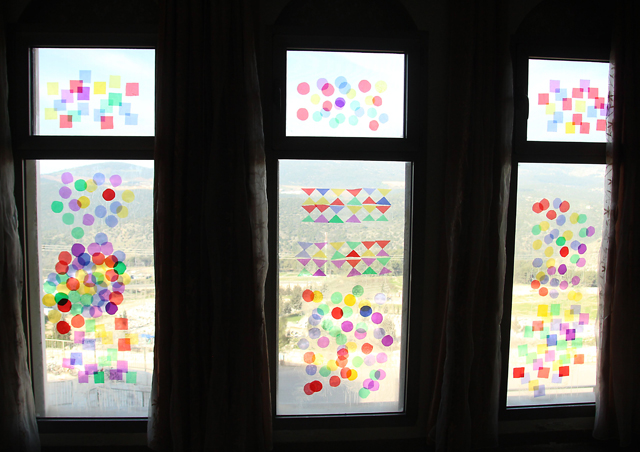 Celephane window art 3 windows