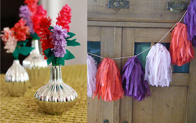 Tissue paper hyacinth,tassel bunting