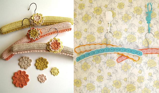 Crocheted hangers, perlman,dottie angel