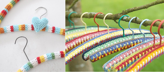 Crocheted Hanger, spud and chloe,
