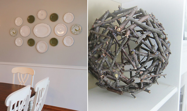 Stick ball,plate decor