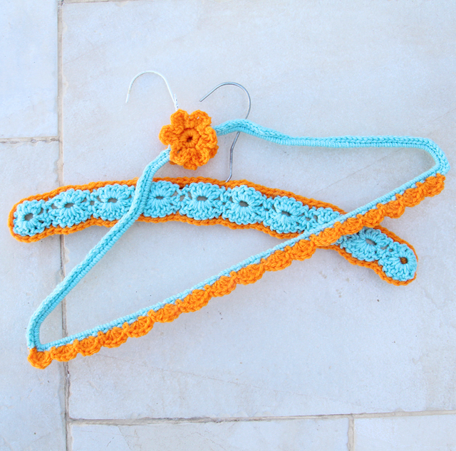 Crocheted wire hanger cover