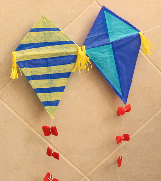 Kite Kid's craft with straws550