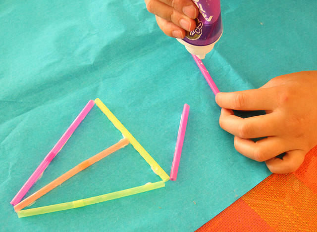 Kite Kid's Craft Step 1