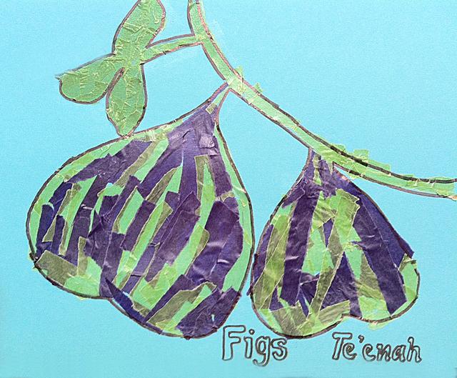 Paper Mosaic kids collage figs craft