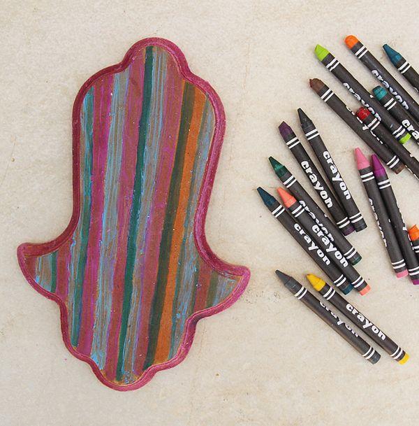 melted crayon on wood craft creative jewish mom. Black Bedroom Furniture Sets. Home Design Ideas