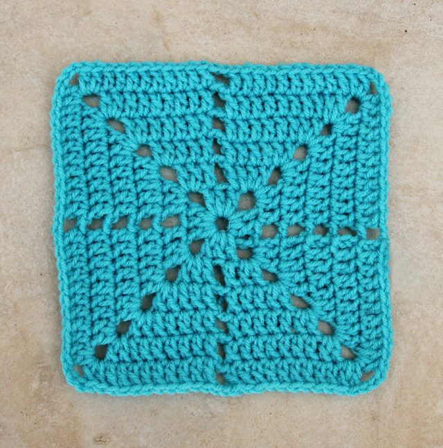 Crochet Filet Starburst Square