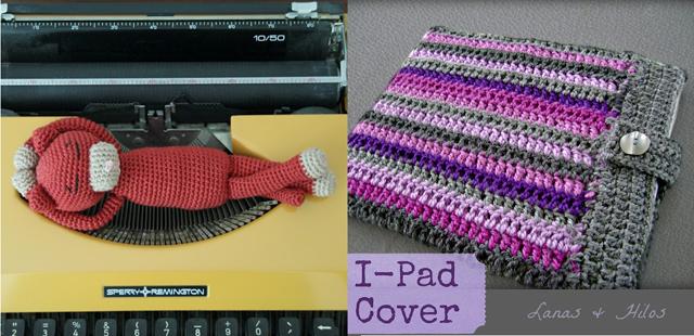 Crocheted cat, ipad cover