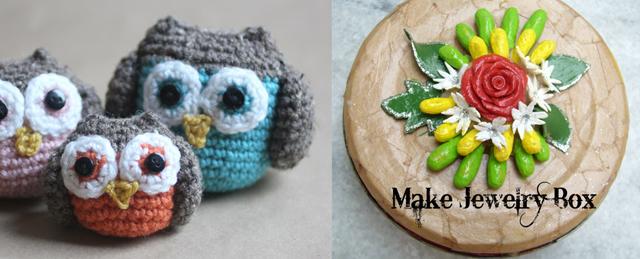 Crocheted owl,homemade fimo recipe