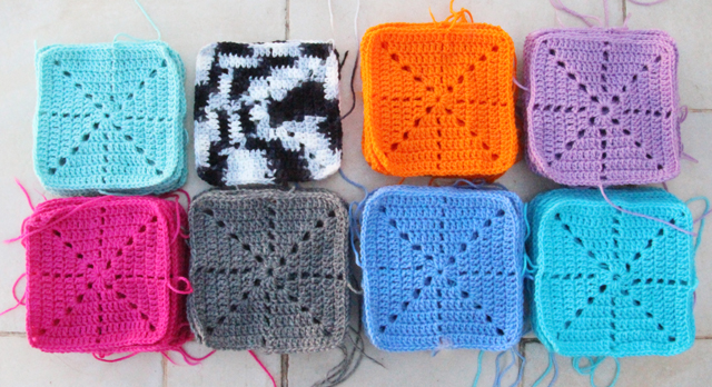 Crochet Squares for filet blanket