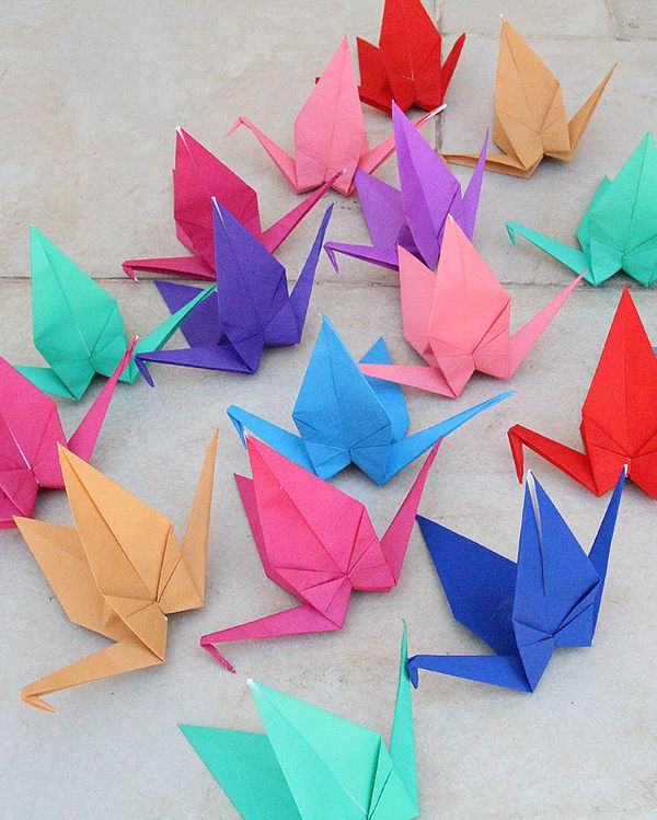 Origami Cranes Perfect For Birthday Parties Or Your