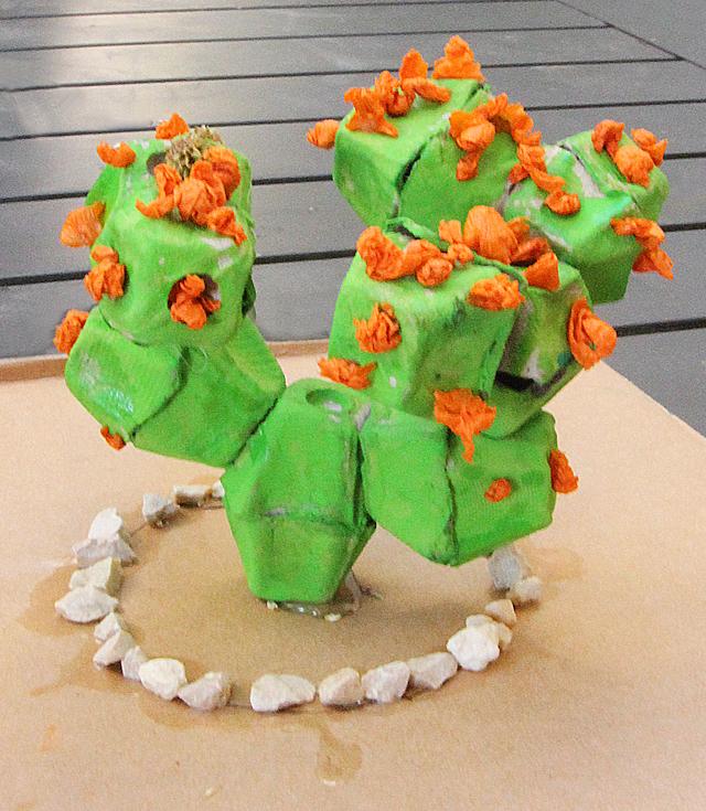 Egg Carton Cactus
