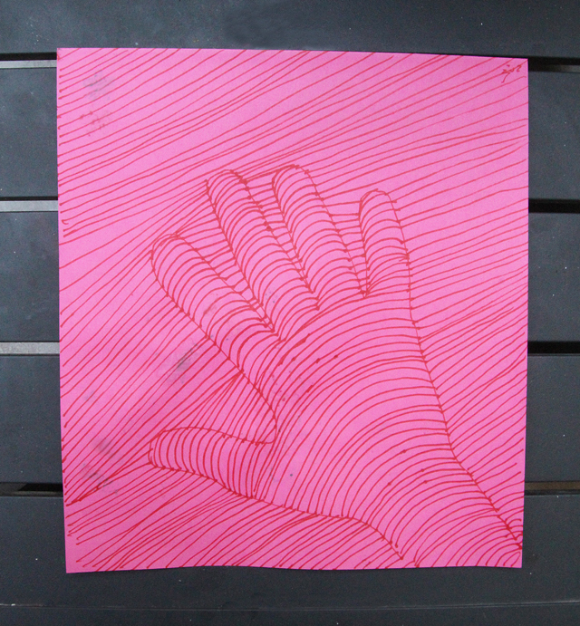 Drawing Exercise Dimensional Hand