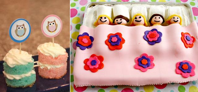Owl cakes,sleepover cake