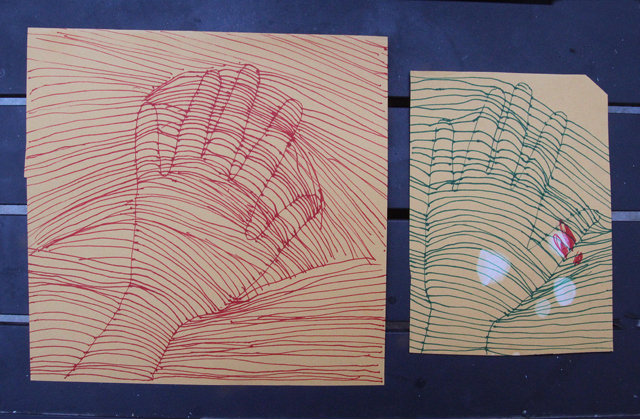 Drawing Exercise Dimensional Hands