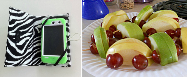 I pad case, car fruit snack