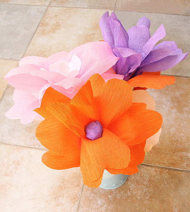 Crepe Paper Flowers giant