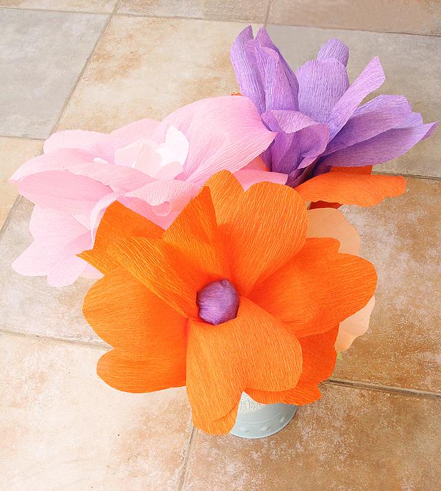 Crepe Paper Flowers Centerpiece Creative Jewish Mom