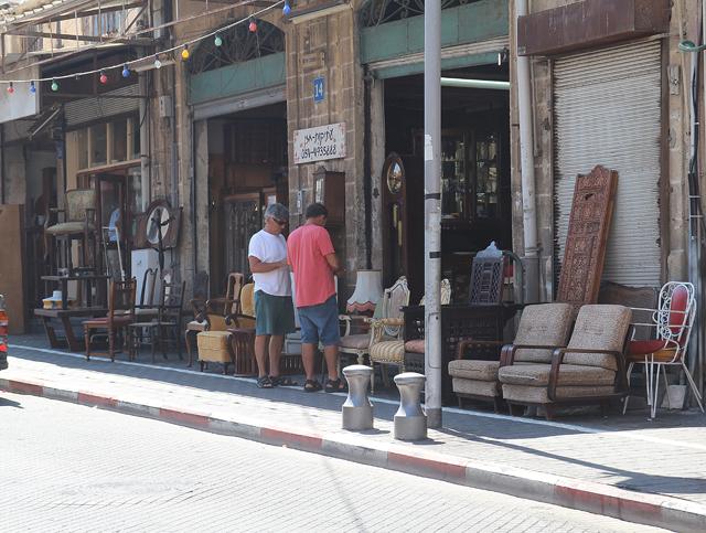 Yaffo Flea Market Stalls