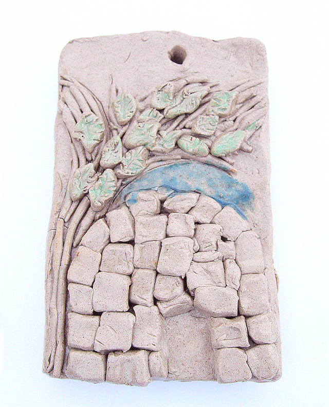Ceramic Kever Rachel Wall Plaque