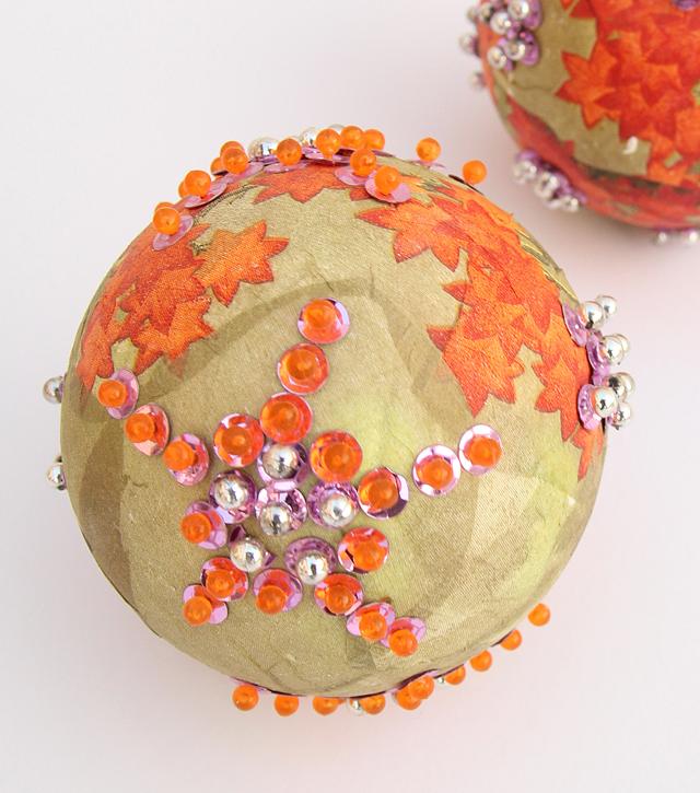 Succah decorations decoupage napkin balls