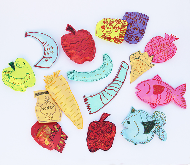 Rosh HaShana Crafts Paper Simanim