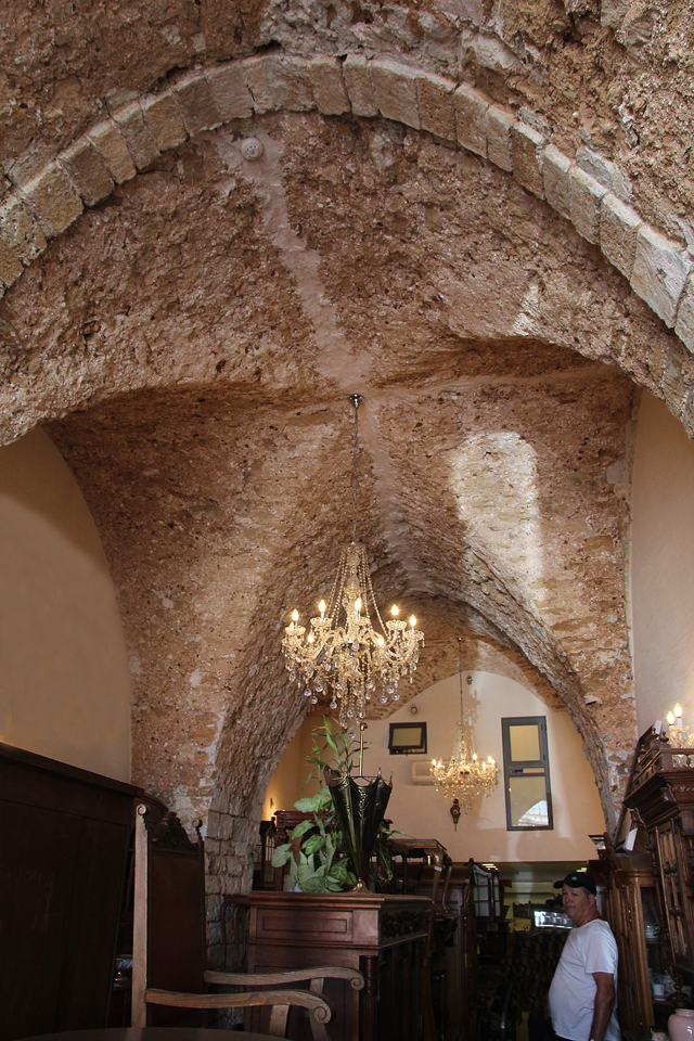 Yaffo flea market vaulted ceiling