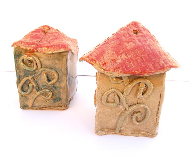 Ceramic Bird Houses detail