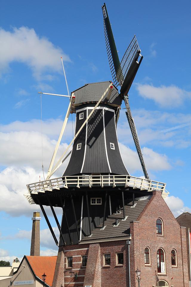 Haarlem Holland Windmill closeup