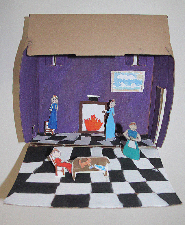 Diorama kid's craft 5