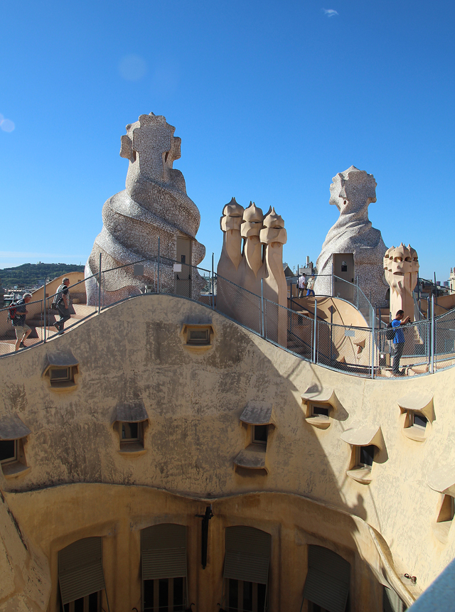 Casa Mila Looking down into courtyard