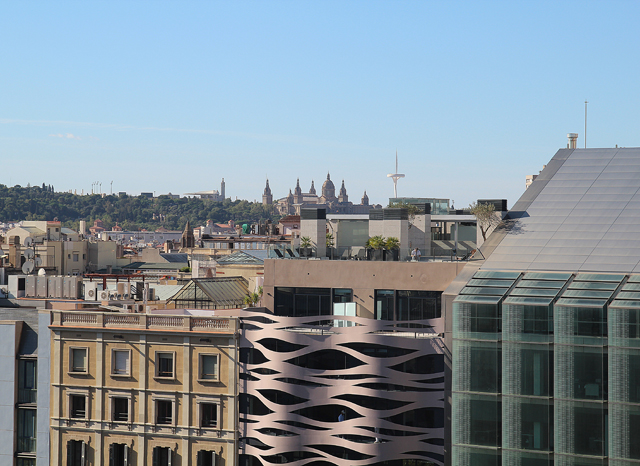 Casa Mila View of Calatrava Tower