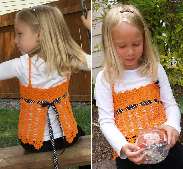 Crocheted Corset Vest For Girls